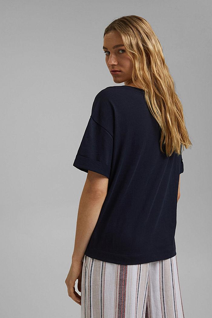 T-Shirt aus 100% Bio-Baumwolle, NAVY, detail image number 3