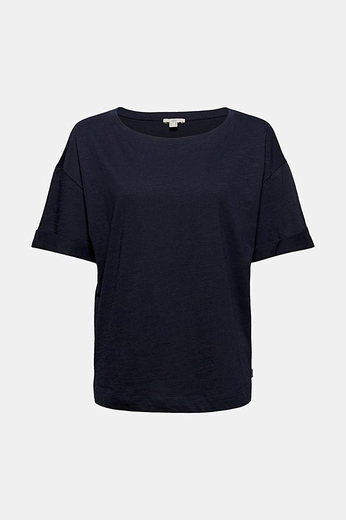 T-Shirt aus 100% Bio-Baumwolle, NAVY, detail image number 5