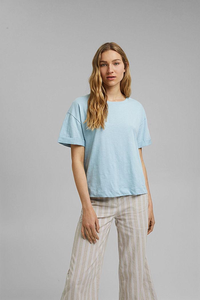 T-Shirt aus 100% Bio-Baumwolle, LIGHT BLUE, detail image number 0