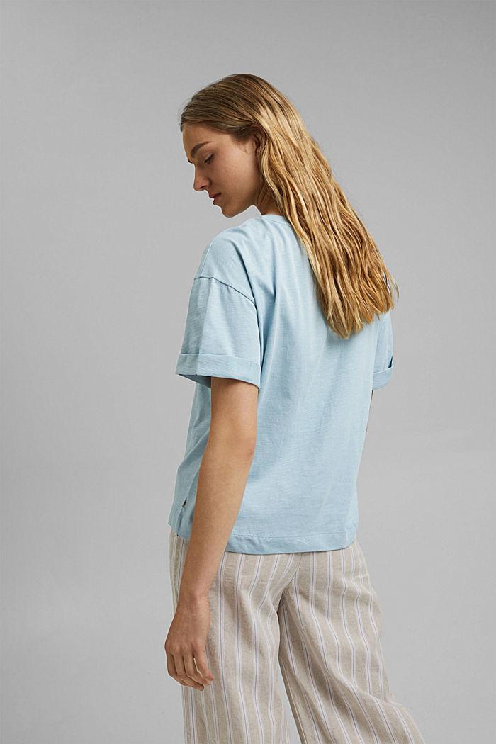 T-Shirt aus 100% Bio-Baumwolle, LIGHT BLUE, detail image number 3