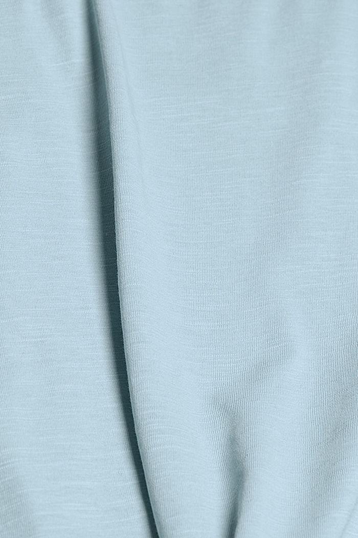 T-Shirt aus 100% Bio-Baumwolle, LIGHT BLUE, detail image number 4