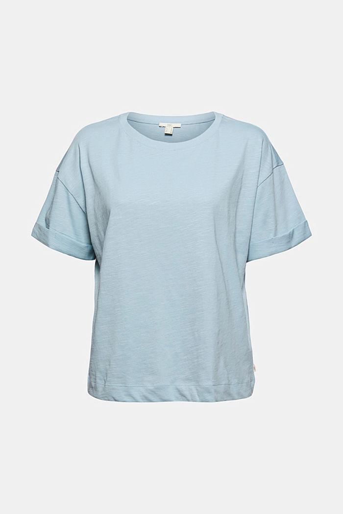T-Shirt aus 100% Bio-Baumwolle, LIGHT BLUE, detail image number 7