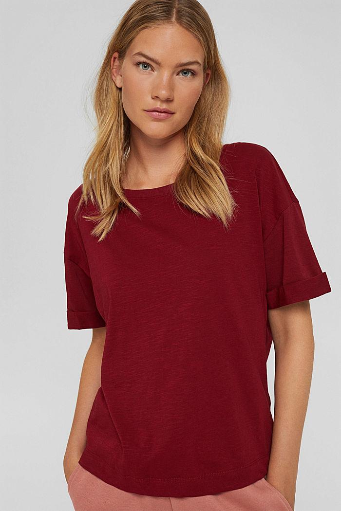 T-shirt made of 100% organic cotton, DARK RED, detail image number 0