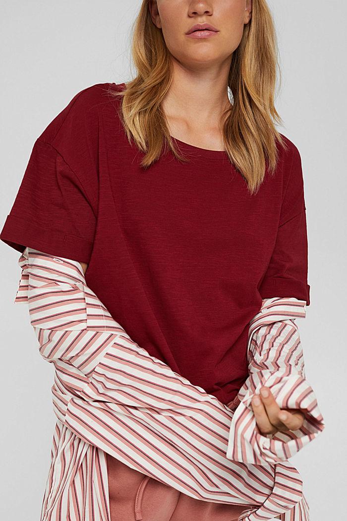 T-shirt made of 100% organic cotton, DARK RED, detail image number 2