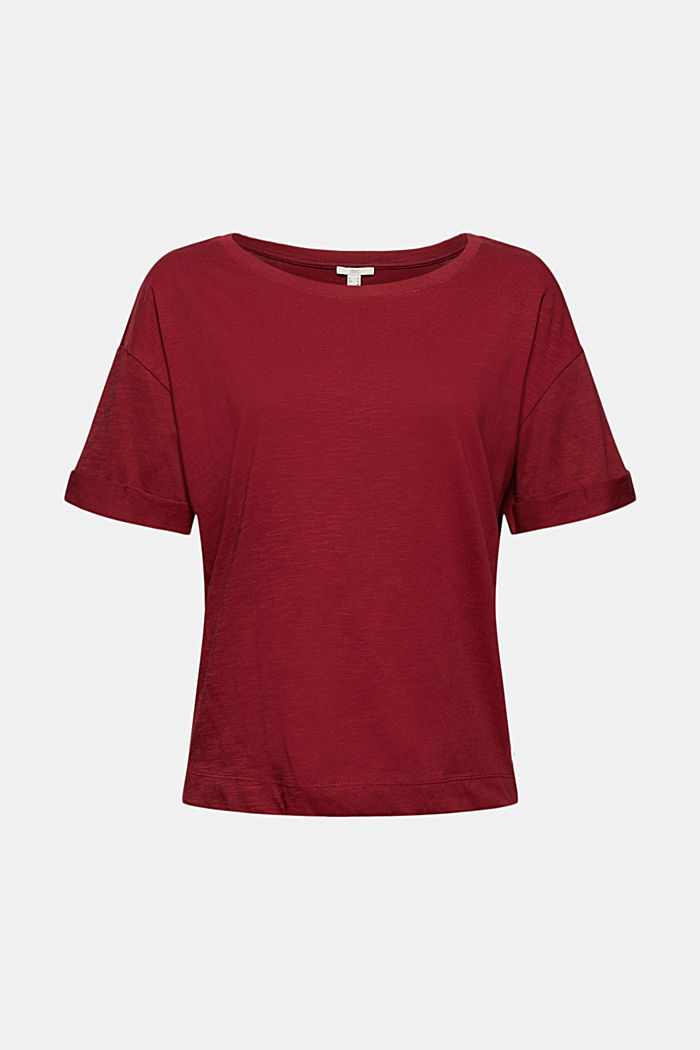 T-shirt made of 100% organic cotton, DARK RED, detail image number 5