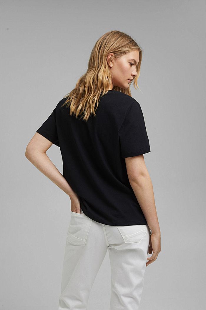 T-Shirt aus Organic Cotton, BLACK, detail image number 3