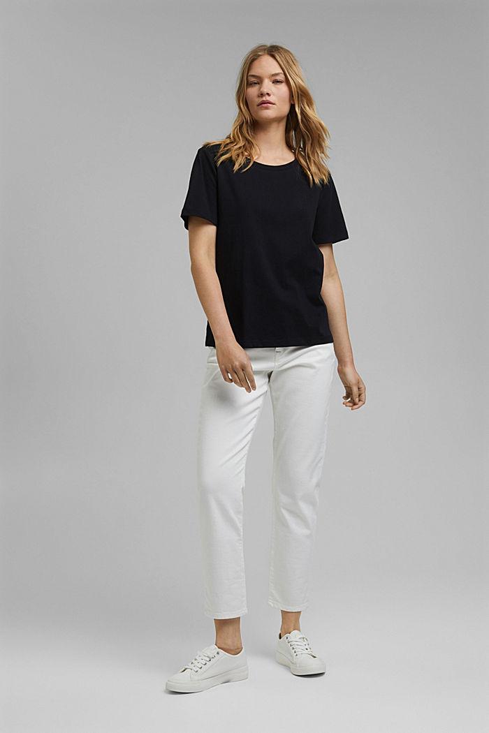 T-Shirt aus Organic Cotton, BLACK, detail image number 6