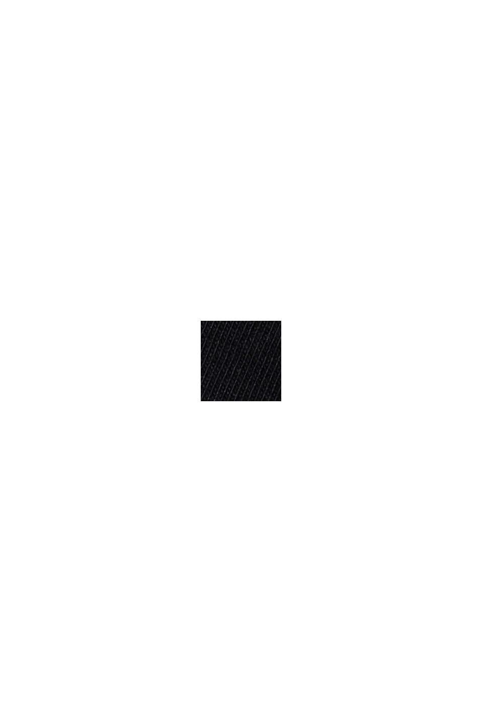 Organic cotton T-shirt, BLACK, swatch