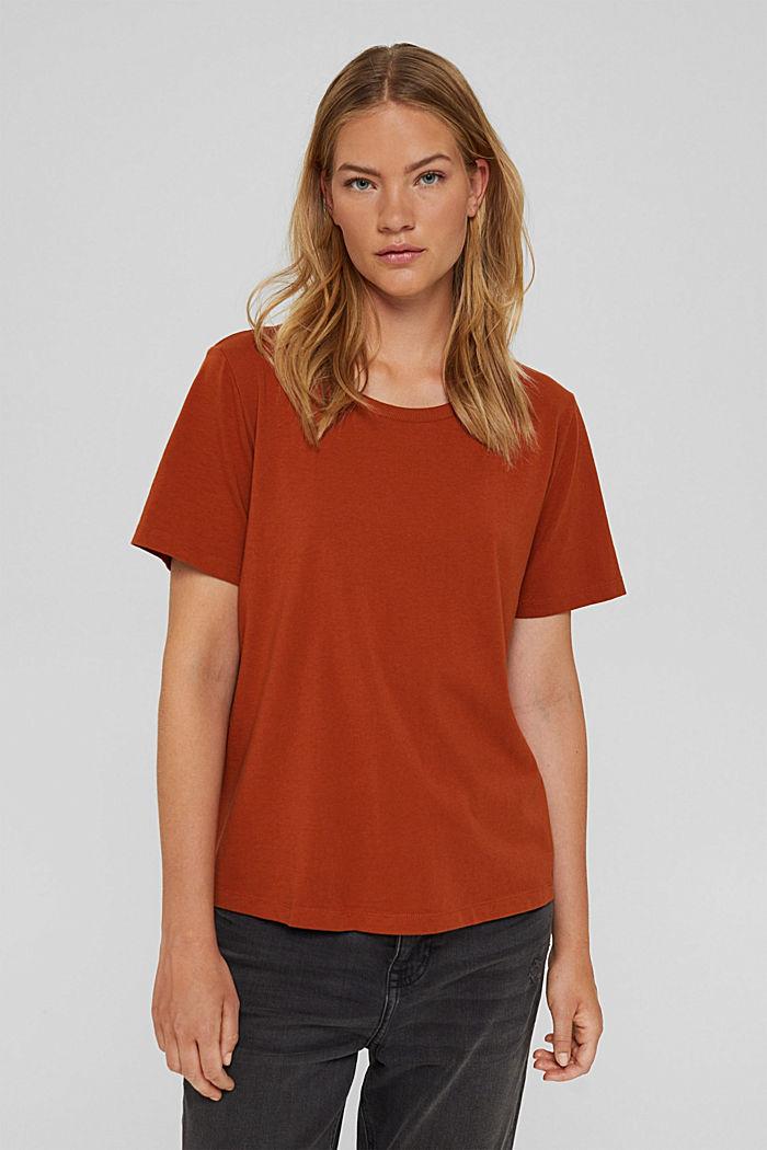 T-shirt en coton biologique, RUST ORANGE, detail image number 0