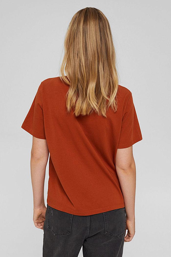 T-shirt en coton biologique, RUST ORANGE, detail image number 3