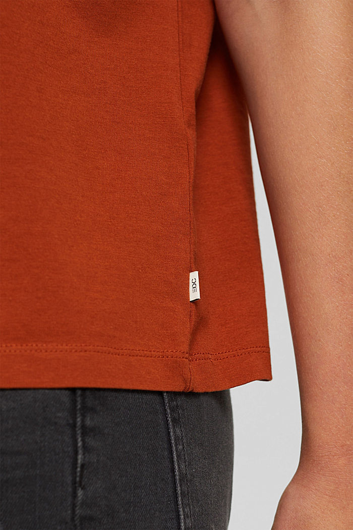 T-shirt en coton biologique, RUST ORANGE, detail image number 2