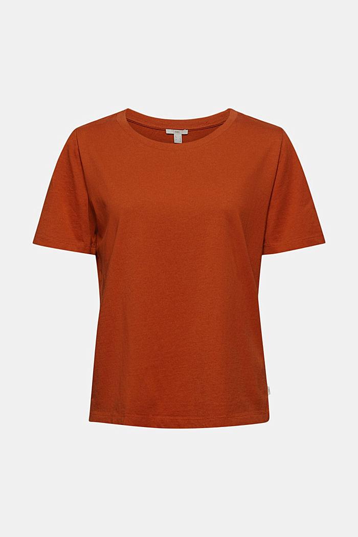 T-shirt en coton biologique, RUST ORANGE, detail image number 6