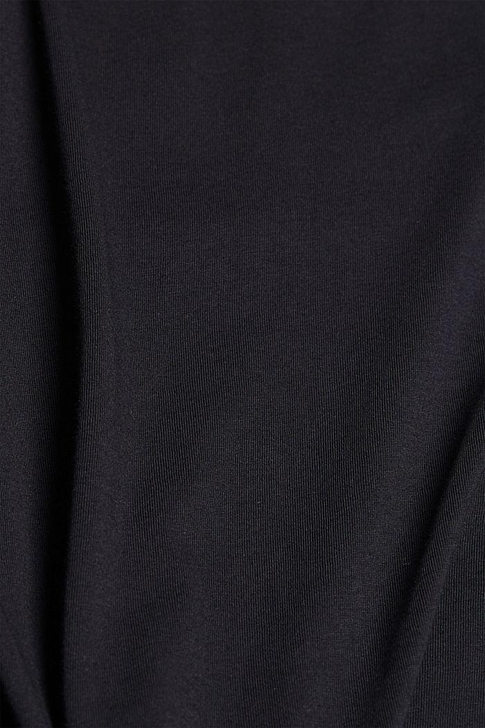 T-Shirt mit Volants, 100% Bio-Baumwolle, BLACK, detail image number 4
