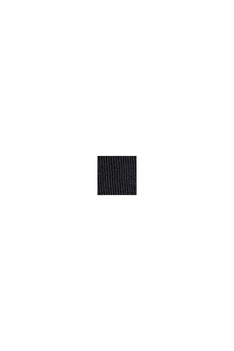 Camiseta con volantes, 100% algodón ecológico, BLACK, swatch