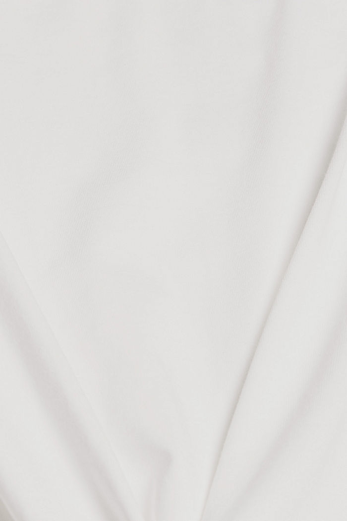 T-Shirt mit Volants, 100% Bio-Baumwolle, OFF WHITE, detail image number 4