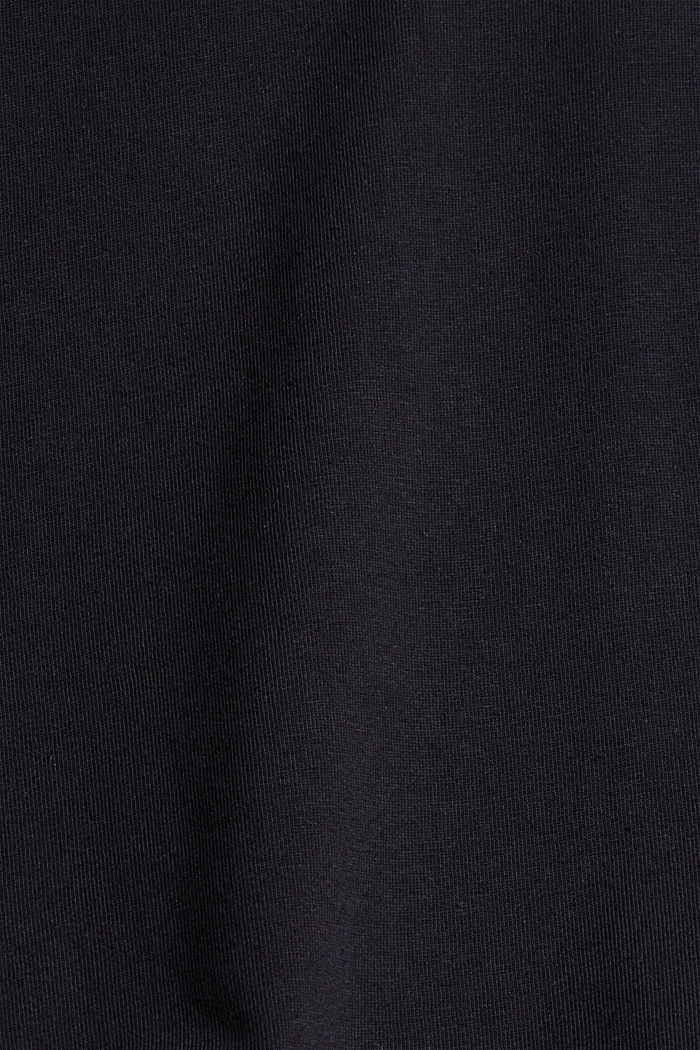 T-shirt with puff sleeves, organic cotton, BLACK, detail image number 4