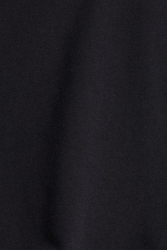 Tričko s nabíranými rukávy, bio bavlna, BLACK, detail image number 4
