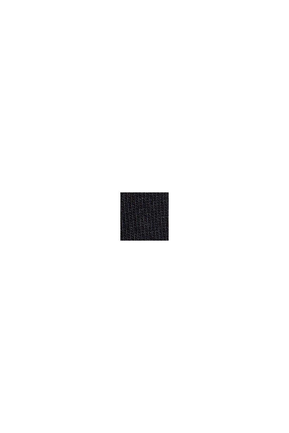 T-Shirt mit Puffärmeln, Organic Cotton, BLACK, swatch