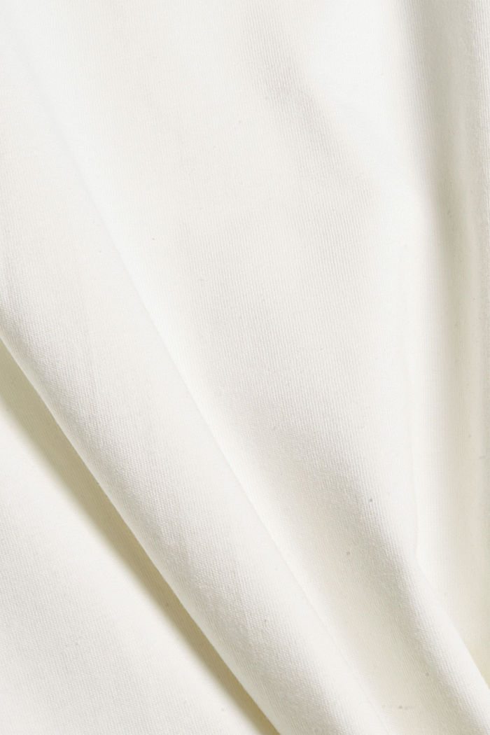 T-shirt with puff sleeves, organic cotton, OFF WHITE, detail image number 4