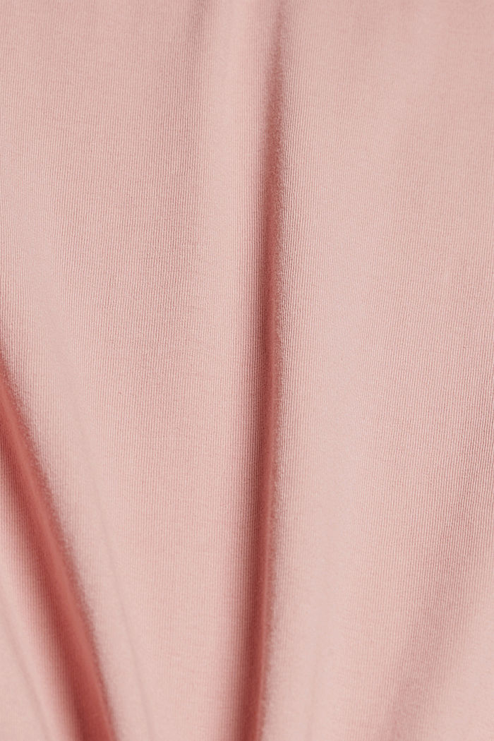 Long oversized top made of 100% organic cotton, SALMON, detail image number 4