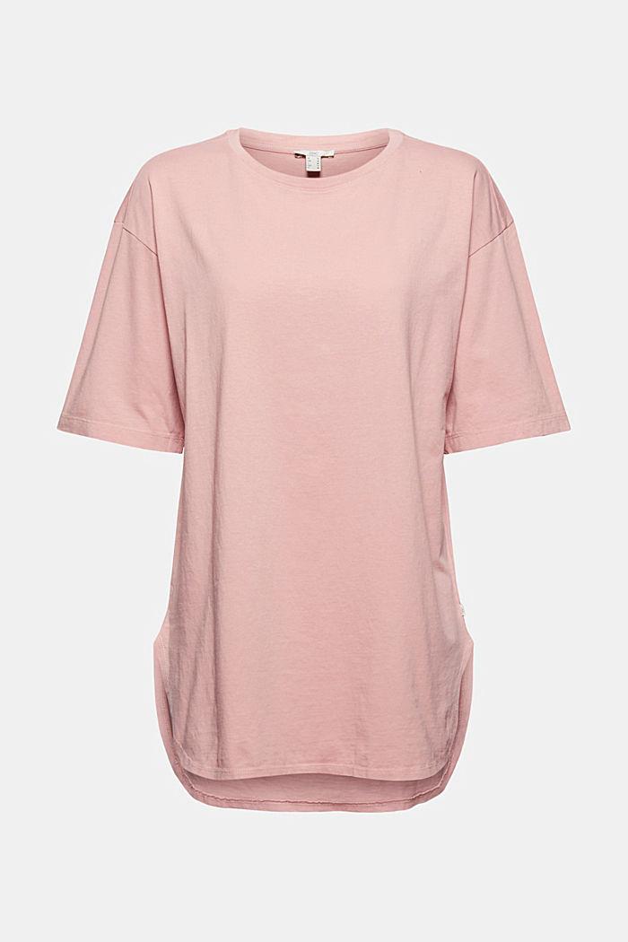 Lang, oversized T-shirt af 100 % økologisk bomuld
