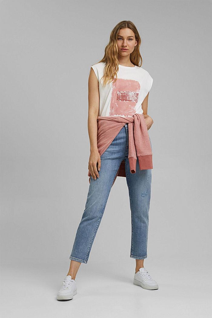 Printed T-shirt, 100% organic cotton, OFF WHITE, detail image number 1
