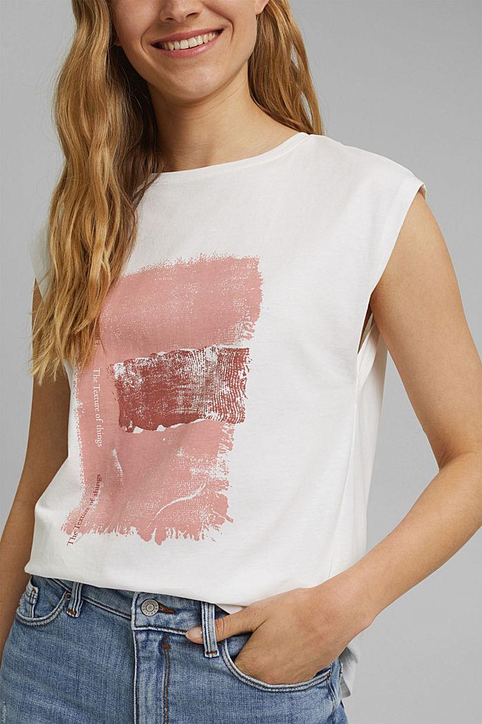 Printed T-shirt, 100% organic cotton, OFF WHITE, detail image number 2