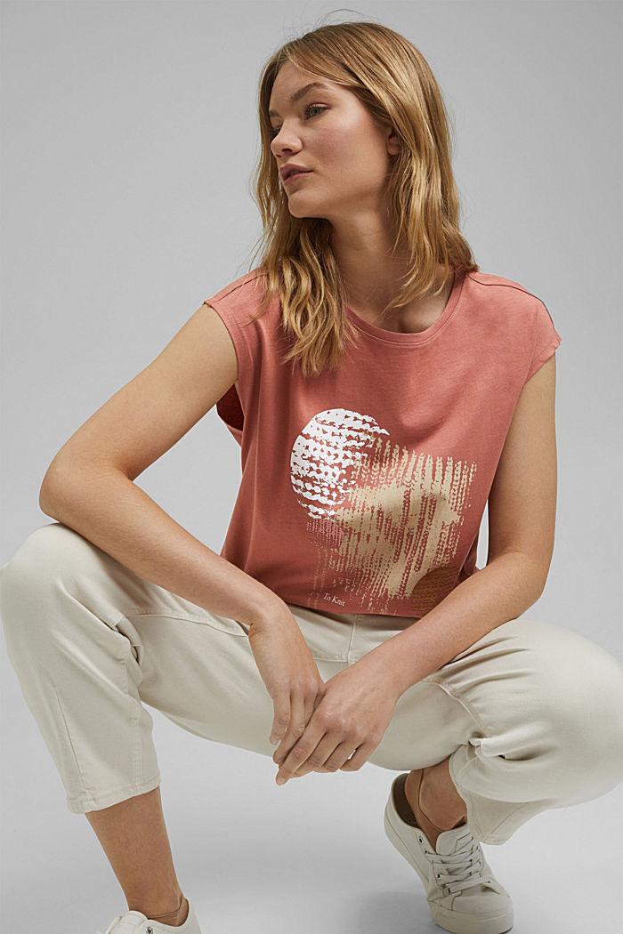 T-Shirt mit Print, 100% Organic Cotton