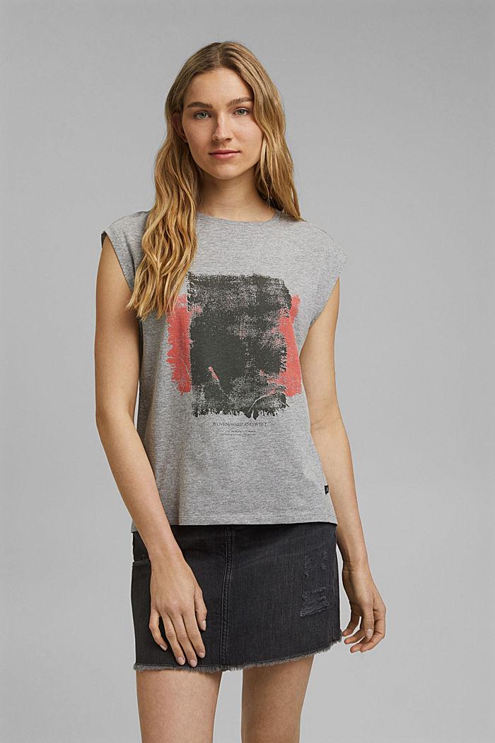 T-Shirt mit Art-Print, Organic Cotton, MEDIUM GREY, detail image number 0