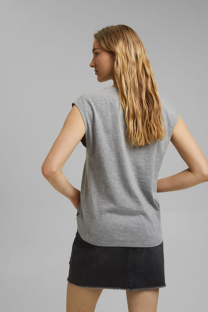 T-Shirt mit Art-Print, Organic Cotton, MEDIUM GREY, detail image number 3