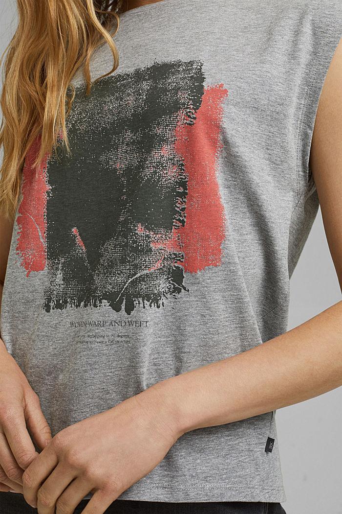 T-Shirt mit Art-Print, Organic Cotton, MEDIUM GREY, detail image number 2