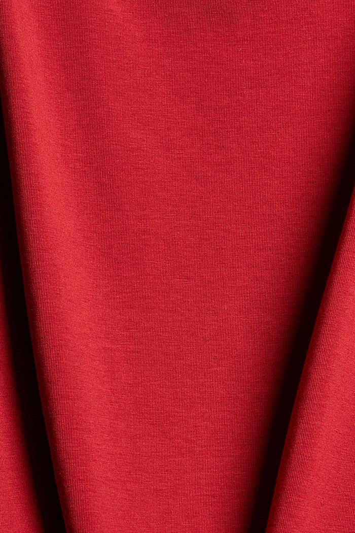 Spaghetti-Top aus Organic Cotton, DARK RED, detail image number 4
