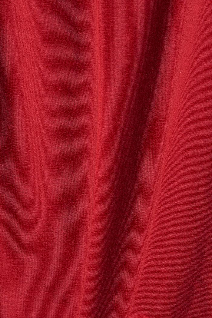 Débardeur en coton biologique, DARK RED, detail image number 4