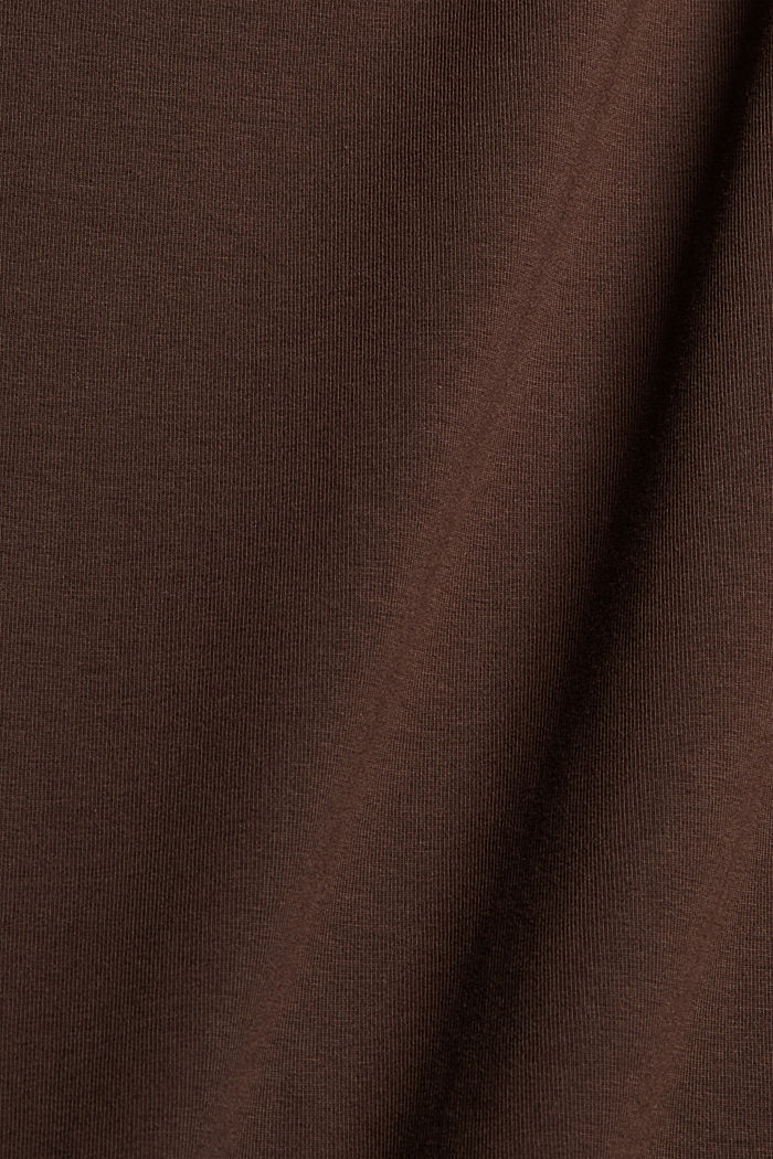 Long vest made of organic cotton, BROWN, detail image number 4