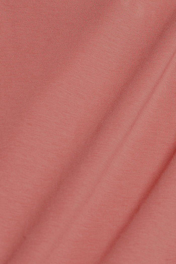 Long vest made of organic cotton, CORAL, detail image number 4