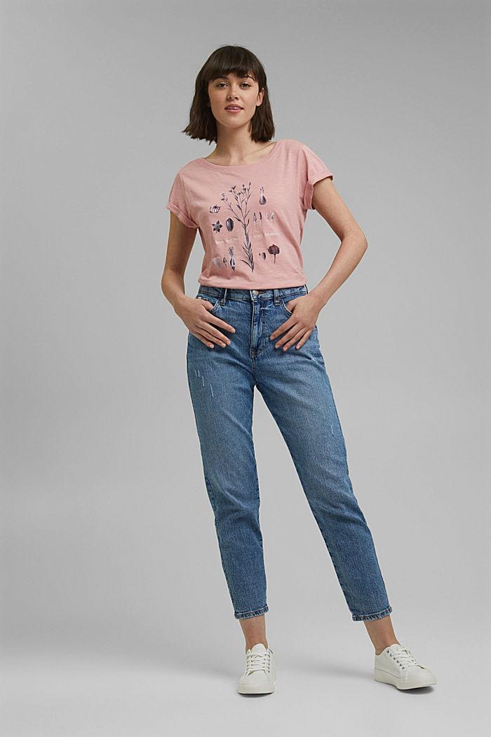 Printed T-shirt, 100% organic cotton, SALMON, detail image number 1