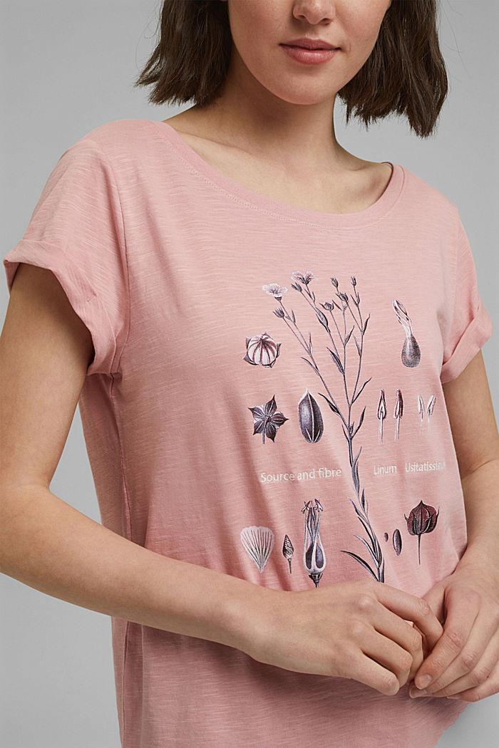 Printed T-shirt, 100% organic cotton, SALMON, detail image number 2