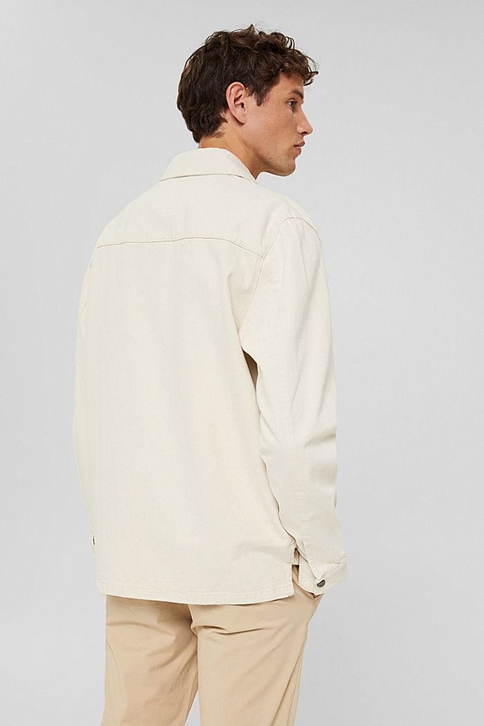 100% cotton twill jacket, OFF WHITE, detail image number 3