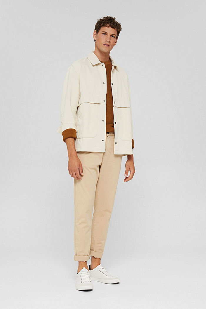 100% cotton twill jacket, OFF WHITE, detail image number 1