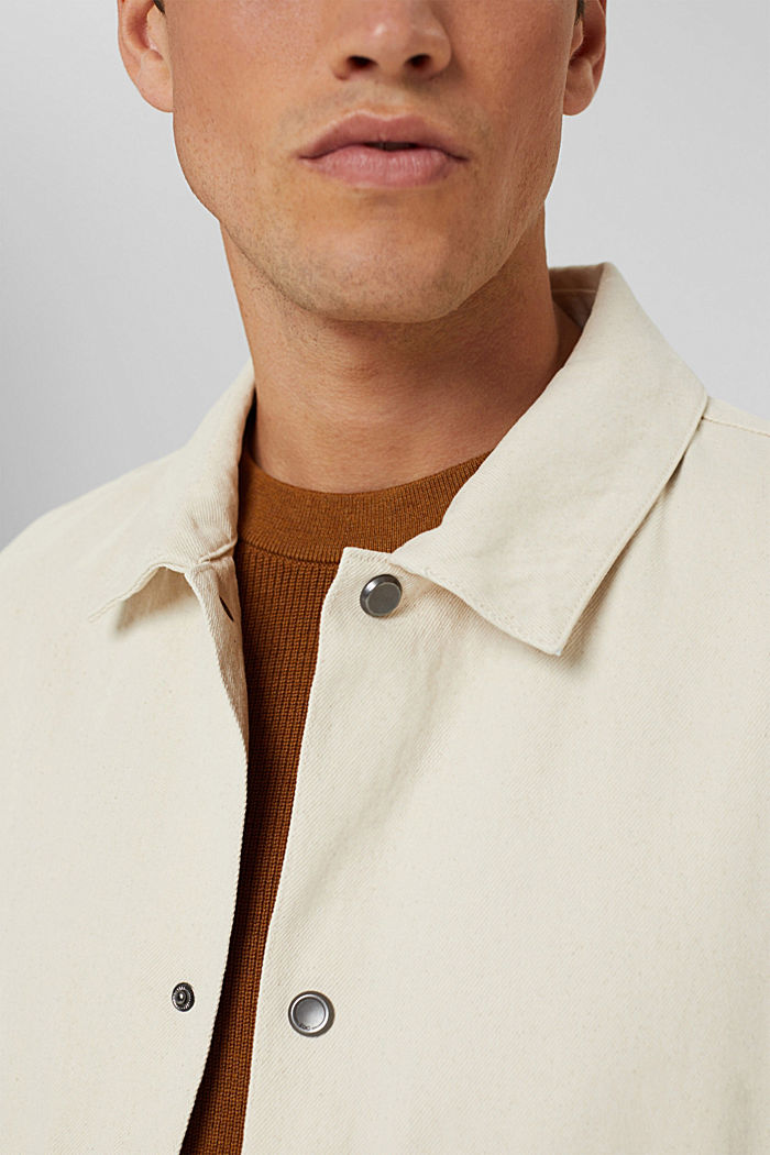 100% cotton twill jacket, OFF WHITE, detail image number 2