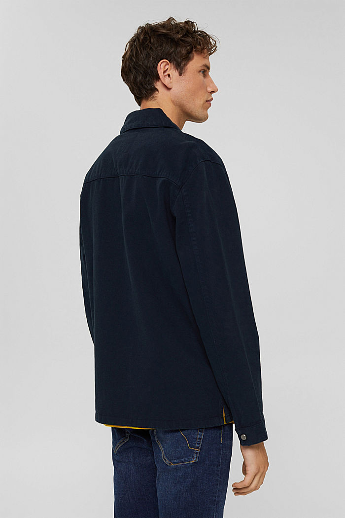 100% cotton twill jacket, NAVY, detail image number 3