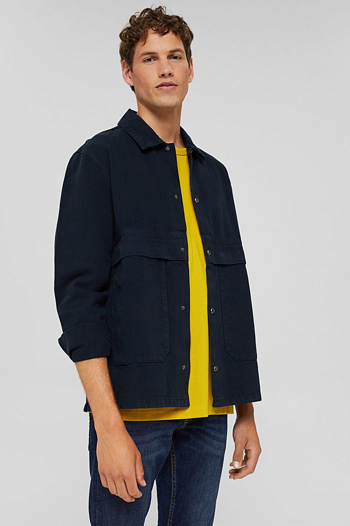 100% cotton twill jacket, NAVY, detail image number 4