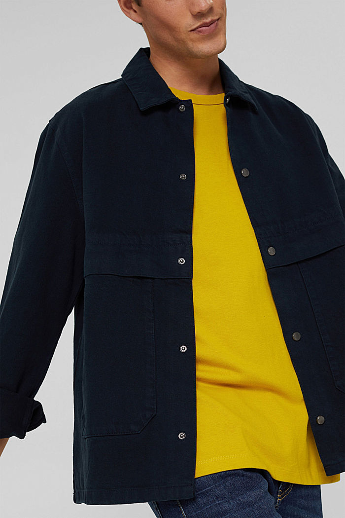 100% cotton twill jacket, NAVY, detail image number 7