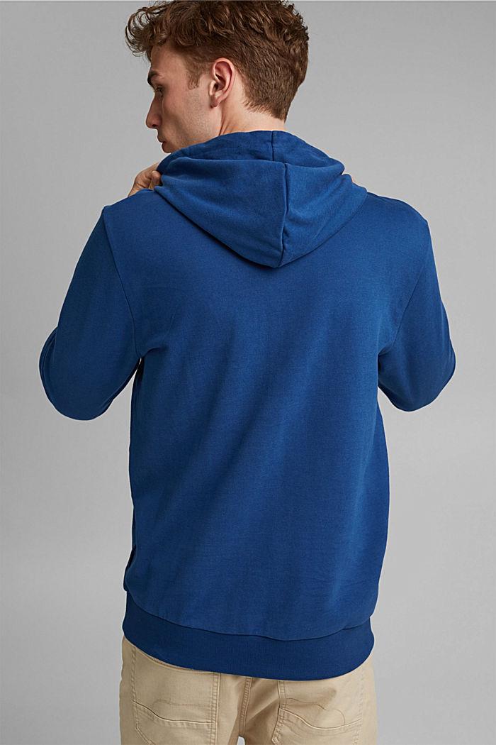 Sweatshirt hoodie in 100% cotton, DARK BLUE, detail image number 3