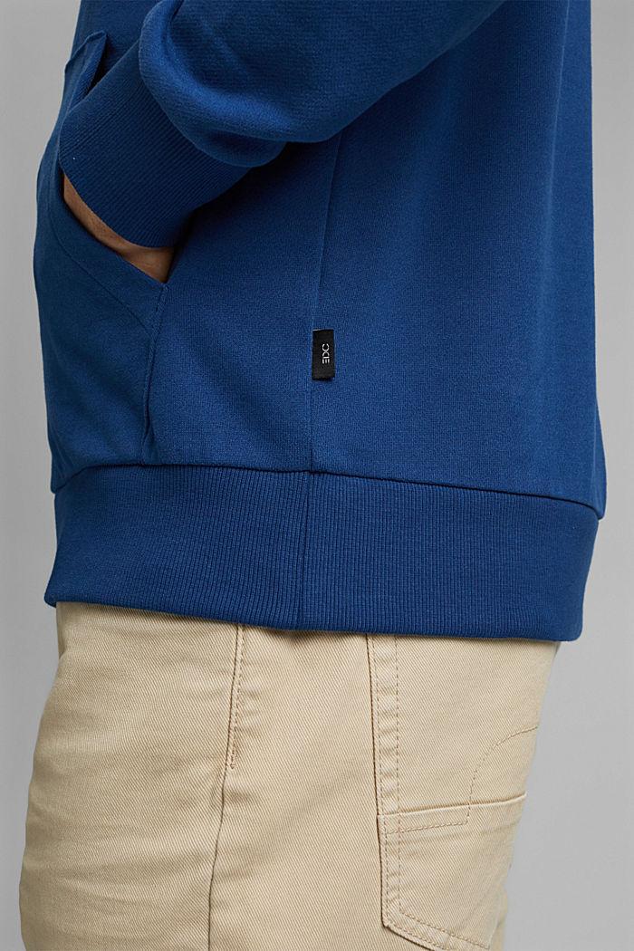 Sweatshirt hoodie in 100% cotton, DARK BLUE, detail image number 2