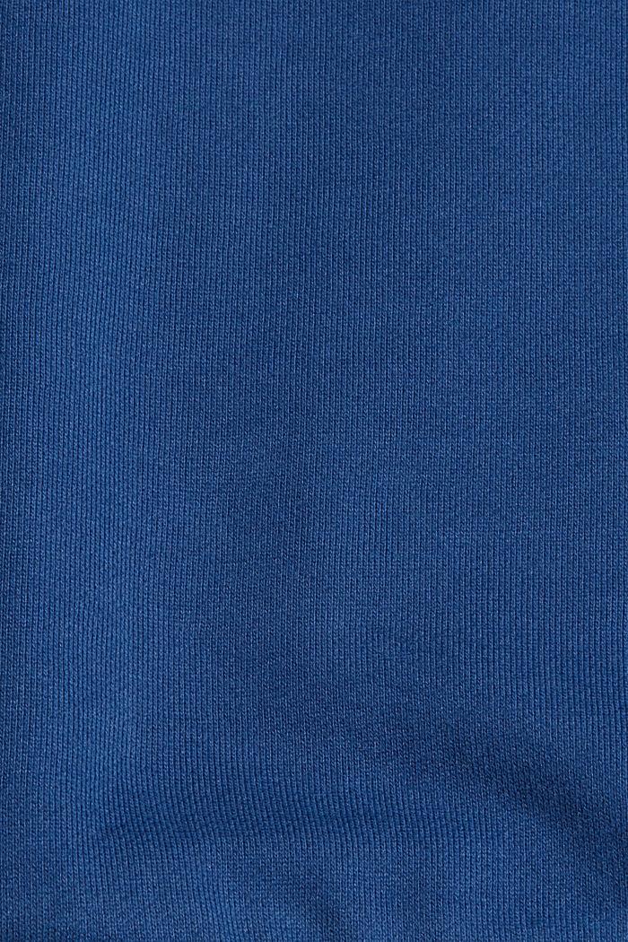 Sweatshirt hoodie in 100% cotton, DARK BLUE, detail image number 5