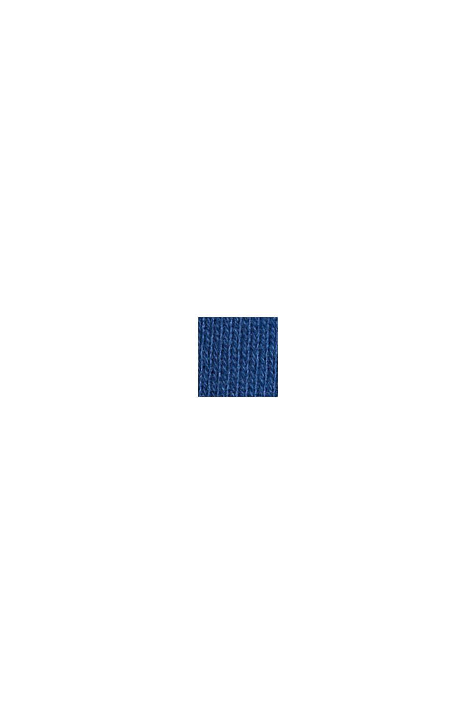 Felpa con cappuccio in 100% cotone, DARK BLUE, swatch