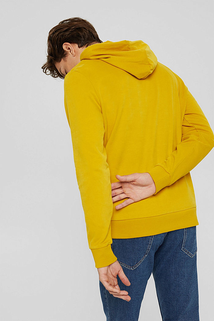 Sweat à capuche, 100% coton, YELLOW, detail image number 3