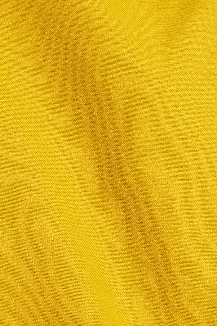 Sweat à capuche, 100% coton, YELLOW, detail image number 4