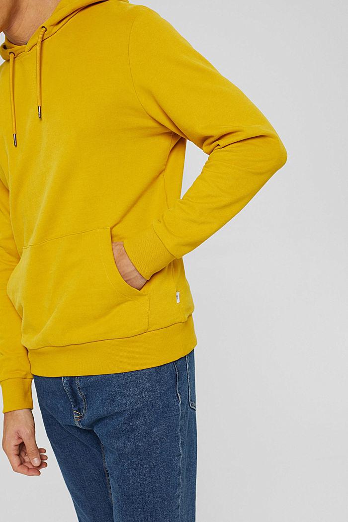 Sweat à capuche, 100% coton, YELLOW, detail image number 6